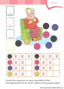 colors graph colored worksheets for kids