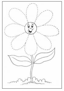 daisy tracing worksheet for preschool free printable