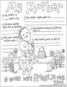 elemantry free printable mothers day worksheets