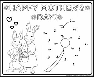 free printable dot to dots worksheets related to mothers day