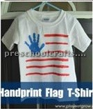 hand print flag t-shirt memorial day craft ideas