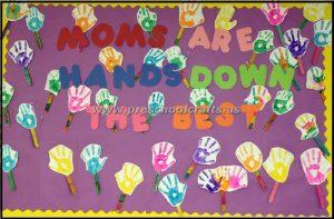 handprint mothers day bulletin board ideas for kids