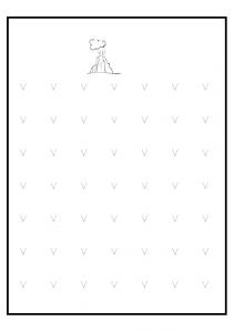lowercase alphabet letter v worksheet