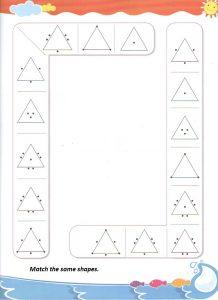 match the shapes worksheet kindergarten