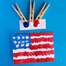 memorial day flag craft ideas for toddler