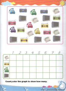 preschool graphing colored free worksheets