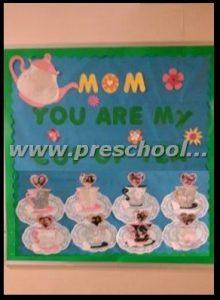 preschool mothers day bulletin board decoration ideas