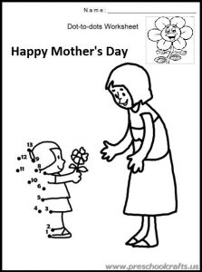 preschool printable mothers day workpages