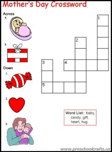 primary school mothers day worksheets