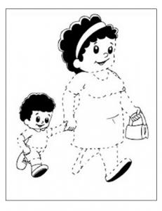 printable tracing worksheet for preschool and kindergarten
