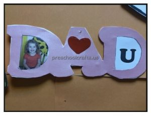 Happy Fathers Day Craft Idea for Preschool and Kindergarten