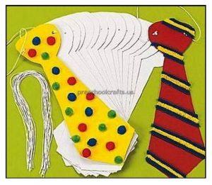 Happy Father's Day Cravat Craft Ideas for Preschool and Kindergarten