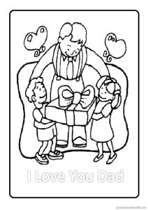 free printable happy fathers day coloring pages for kindergartners