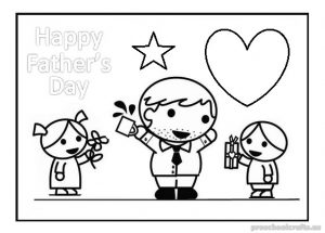 happy fathers day coloring pages for toddler
