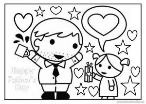 happy fathers day colouring pages for preschooler and toddler