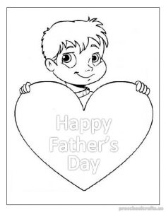 printable happy fathers day coloring pages for kindergarten