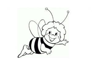 bee coloring pages preschoolers