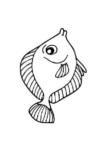 fish coloring pages for kindergarten and preschool