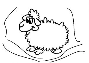 preschool sheep coloring pages