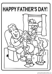 Father's Day Colouring Pages for Pre school and Kindergarten
