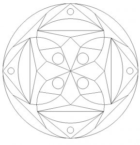 Free Printable Mandala Colouring Pages for 1'st graders