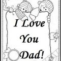 Happy Fathers Day Coloring Pages for Pre school and Kindergarten