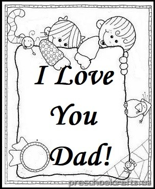 Father 39 s Day Coloring Pages for Kindergarten and Preschool