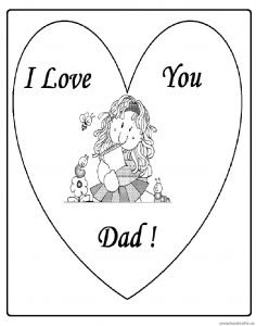 Happy Fathers Day Coloring Pages for Preschool