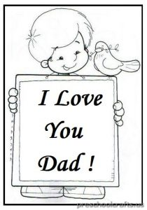 Happy Fathers Day Colouring Pages for Preschool and Kindergarten