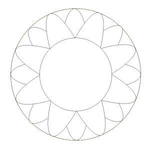 Mandala Coloring Page for Kindergarten