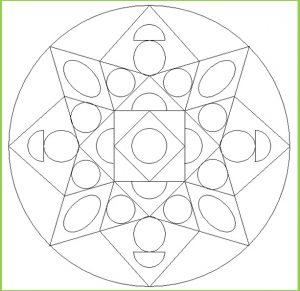 Mandala Coloring Page for Preschool - Free