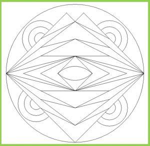 Mandala Coloring Page for Preschool - Free Printable