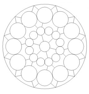 Mandala Colouring Pages for 1'st graders