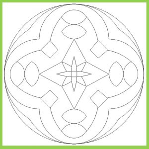Mandala Colouring Pages for Preschool - Free Printable