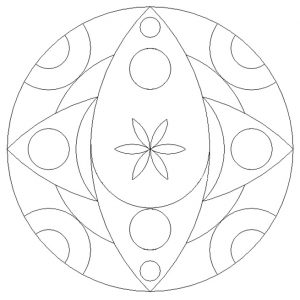 Printable Mandala Coloring Pages for Kindergartners