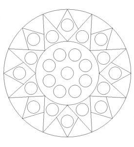Printable Mandala Colouring Pages for Kindergartners
