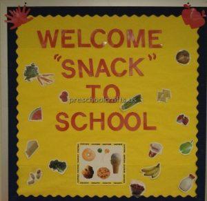 back to school bulletin board ideas for snack school