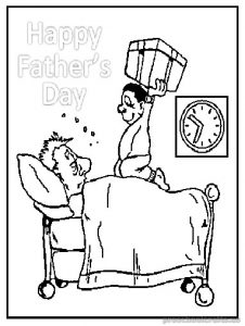 fathers day coloring pages for kindergartners