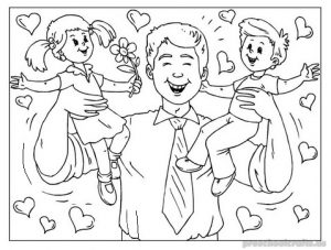 fathers day printable coloring pages for preschool