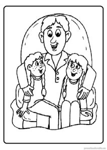 happy fathers day coloring pages for preschool - free printable