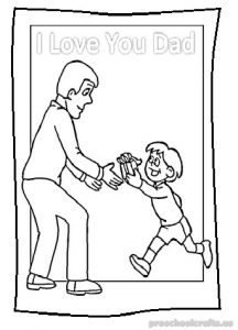 happy fathers day coloring pages for preschoolers