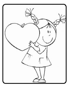 happy mothers day colouring page for kindergarten