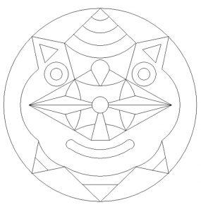 Mask mandala coloring pages - free printable