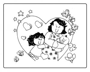 preschool mothers day coloring pages