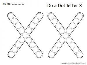Do a dot uppercase letter x worksheet