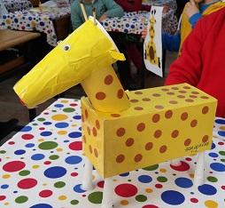 Giraffe craft idea for preschool and kindergarten
