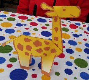 Preschooler craft ideas related to giraffe