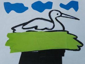 Stork craft ideas for kid