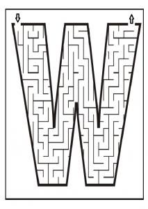 Upper case letter W worksheet activities