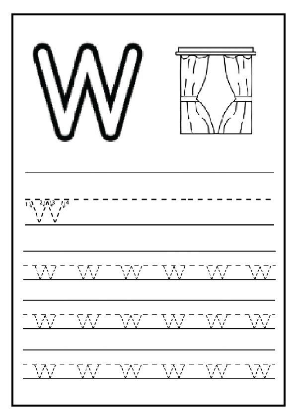 Letters Worksheets practice writing lowercase letters worksheets : Lowercase Letter w Worksheet / Free Printable - Preschool and ...